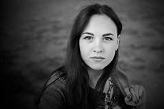 Dasha (ivan_volchek) Tags: girl portrait colors contrast vest nails lacquer eyes people black white contras