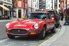 Old School (Mattia Manzini Photography) Tags: jaguar etype supercar supercars car cars carspotting nikon v12 red classic london mayfair automotive automobili auto