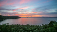 West Wales Sunset (Andy.Gocher) Tags: andygocher canon100d canon1018mm europe uk wales pembrokeshire coastalpath stbridesbay sunset sea seascape clouds water