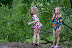Amazing Amazon Wonder Women in the making! (Pejasar) Tags: girls children childhood play cousins wonderwomen granddaughters lafortunepark tulsa oklahoma