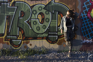 Girl and graffiti