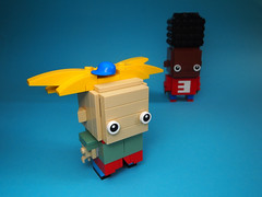 Arnold and Gerald (Dwalin Forkbeard) Tags: moc lego brickheadz cartoon nickelodeon friends school
