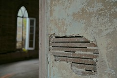 "to an extent (listening to ""tell me why"", neil young) (haint_blue) Tags: canon mississippi rodney ghosttown church abandoned decay rurex rural window wall architecture entryway arch"