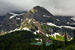 Grinnel's Angel, Glacier NP, Montana, USA (christopherhawkinsimages.com) Tags: glacier national park grinnel lake angel wing montana forest shadow cloud mountain snow