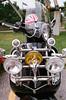 Fender Ornament (Georgie_grrl) Tags: modsandrockers2017 motorcycles scooters social friends toronto ontario pentaxk1000 rikenon12828mm fender ornament decor details chrome styin