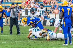"PVHS v. Palatka '17-94 (mark.calvin33) Tags: pontevedra football nightgame highschool pvhs runningback blocker offense defense kick pass catch hit tackle rush rushingyards rushing student quarterback ""night ""friday night lights"" ""passing game"