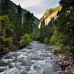 Taking in Views of the Merced River While Standing on Happy Isles Bridge (Yosemite National Park) thumbnail