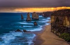 Apostles (jenni 101) Tags: haikafilters 12apostles australia australiansunset australianbeach greatoceanroad haidafilters le victora beach colourful nikond7200 sunset