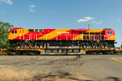 17-4624cr (George Hamlin) Tags: remington norfolk southern railroad freight train ns 098 indian railways es43acmi diesel locomotive 49002 class wdg4g colorful red yellow flat car transit port photo decor george hamlin photography general electric