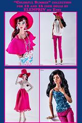 """""""Colorful Summer"""" Collection by ELENPRIV (elenpriv) Tags: colorful summer collection elenpriv elena peredreeva 12inch 16inch fr2 fr16 fashionroyalty integrity toys jason wu doll"""