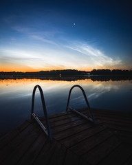 Noctilucent clouds in the summer night (Nippe16) Tags: landscape atmosphere summer color night nightscape midnight noctilucetn noctilucent cloud astro finland suomi