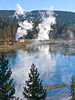Boiling mud pits across the Yellowstone River (spotwolf5) Tags: yellowstonepark hotsprings