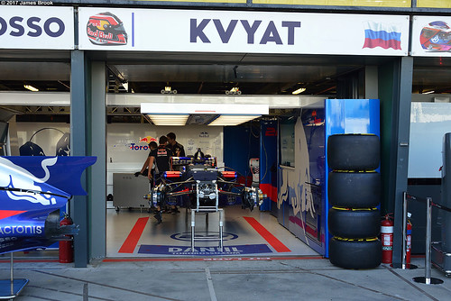 Torro Rosso STR12 in the garage