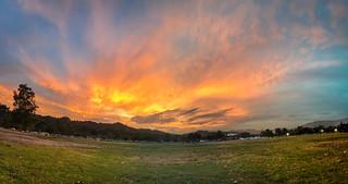 Rosebowl Sunset in Pasadena, Ca