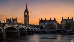 Westminster Bridge & Big Ben 2 (mark.iommi) Tags: palaceofwestminster bigben westminsterbridge riverthames london uk england greatbritain sunset dusk goldenhour houseofcommons pentaxart