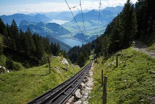 48% @the steepest cogwheel railway in the world