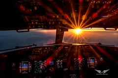 Boeing 737NG Sunset at 38000 feet (gc232) Tags: canon g7x livefromtheflightdeck golfcharlie232 golden light boeing aviation avgeek cockpit b737 b737ng b737800 b737700 b737900 737 737ng 737800 737700 737900 flightdeck fly flying travel pilots view instruments sun sunset sunlight sunstars clouds avporn pilot airline airliner jet plane airplane spotting jumpseat