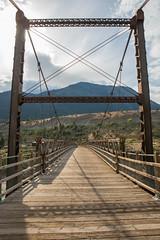 Lillooet Old Bridge (schoeband) Tags: fraserriver rocks lillooet britishcolumbia canada bridge lillooetoldbridge suspensionbridge