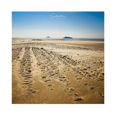 New Age (MagiCshoot) Tags: sable sand desert plage sky ciel trace path island ile montstmichel baie tombelaine normandie