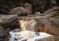 Small cascade at Splitters Falls in The Grampians National Park Victoria (laurie.g.w) Tags: cascade splittersfalls thegrampians nationalpark victoria australia creek stream waterfall rocks water landform landscape