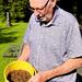 Karl Verner brought freshly caught live shrimp