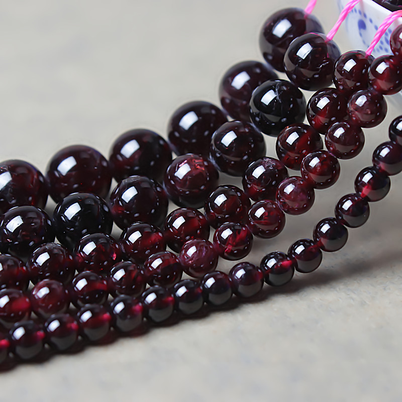 DIY semi-finished garnet crystal beads bracelet necklace beads beaded handmade jewelry accessories Jin female