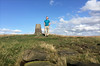34 of 52 trig points (Ron Layters) Tags: 2017 ronlayters selfportrait 52trigpoints standedge trigpoint escarpment gritstone rocks sun afternoon grass abovediggle pillar tp6152 fbs4402 peakdistrict peakdistrictnationalpark marsden diggle greatermanchester england unitedkingdom 52weeks 52 phonecamera iphone apple appleiphone6 selftimer tripod 10secondtimer weekthirtyfour week34 34