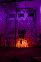 Red Dwarf (Graveyardworker) Tags: bclightart graveyardworker jordanriver lightpainting shadowplay abandoned adventure art bc canada colours dark exploration graveyardwork house landscape light lightart lightscape longexposure lpwalliance night nightlights nightphotography nightscape outdoors pacificnorthwest paintingwithlight shadowpeople steelwool trippy urbex