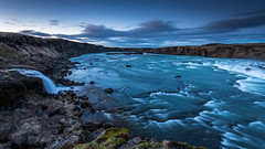 Urridafoss after the sunset (Mika Laitinen) Tags: canon5dmarkiv europe finland iceland leefilters urridafoss blue cloud color landscape longexposure nature outdoors river rock sky sunset water waterfall wideangle southernregion is