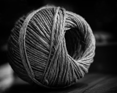 Wrapped Around (joegeraci364) Tags: twine string line rope fiber wrap spiral black white art design craft circle shape