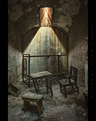 Shall We Gather 'Round the Table? (Whitney Lake) Tags: pennsylvania philadelphia abandoned jail cell prison easternstatepenitentiary