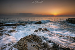 Xghajra rocky sunrise (glank27) Tags: rocks rough seas sunrise mood xghajra malta south coast karl glanville canon eos 5d mk iv ef 1635mm f4l is usm landscape seascape photography mediterranean ngc