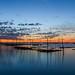 Lever de soleil sur le Bassin d'Arcachon (1)