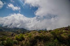 When you sleep above the clouds (Vagabundina) Tags: rinjani nationalparkrinjani nature landscape scenery panorama mountain grass clouds sky sun view amazing inspiring indonesia lombok southeastasia asia nikon nikond5300 dsrl wideangle travel