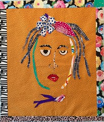SassyLady4 (opal c) Tags: fabricart collage lady portrait wallart wallhanging