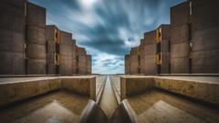 The Salk Institute (IzTheViz) Tags: california lajolla sandiego salk symmetry architecture perspective