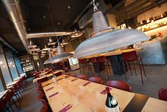 _DSC2097 (fdpdesign) Tags: pizzamaria pizzeria genova viacecchi foce italia italy design nikon d800 d200 furniture shopdesign industrial lampade arredo arredamento legno ferro abete tavoli sedie locali