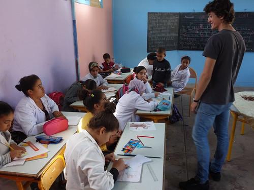 Guillaume et les élèves