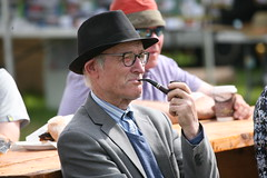 Taking a break (LLysaght) Tags: gentleman smoking pipe hat spectator iverkshow piltown kilkenny agriculturalshow iverk2017