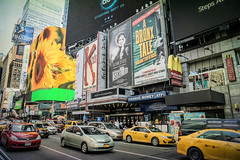 Billboards (JMS2) Tags: nyc manhattan timessquare cars taxis traffic streetscape activity