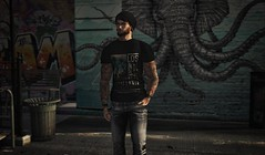5:04PM, Melrose Avenue (CalebBryant) Tags: secondlife sl mens mesh stealthic volkstone tonktastic hermony kalback rama tmd mancave socal norcal california graffiti hipster streets