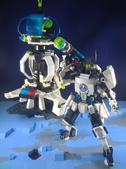 Defending the outpost (donuts_ftw) Tags: lego space scifi moc mecha exploriens