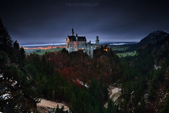The Fairytale Castle (FredConcha) Tags: neuschwanstein palace castele castelo palacio germany alemanha touristic place bridge sunset clouds nikon fredconcha d800 lights landscape nature city fussen