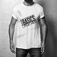 Logo Design (Lucian P Potlog) Tags: hipster model guy fashion fashionable stylish posing casual people trendy muscular masculine man macho sexy lifestyle look shirt t tshirt white blank clothing front design elegance clothes store mock up mockup square