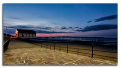 Silent Saltburn. (peterwilson71) Tags: pier sand seashore light skys stones night railings yorkshire saltburn sunset canon6d