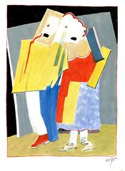 Wolfram Zimmer: Dress up - Verkleidet (ein_quadratmeter) Tags: wolframzimmer bilder kunst malerei gemälde wolfram zimmer konzeptkunst objektkunst mein freiburg burg birkenhof kirchzarten ausstellung ausstellungen peinture exhibition exhibitions zeichnung abstraktion