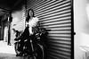 Sitting On Motorcycle (Meljoe San Diego) Tags: meljoesandiego ricoh ricohgr streetphotography street streetlife candid hipshot monochrome philippines