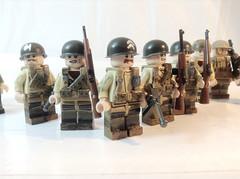 Custom Painted American Troops (-=Spectre=-) Tags: ui world war 2 ww2 lego us american