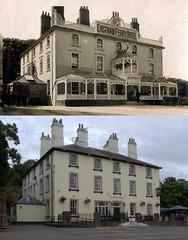 Eastham Ferry Hotel, Eastham, 1910 and 2017 (Keithjones84) Tags: birkenhead wallasey merseyside wirral thenandnow rephotography newbrighton