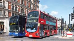 Stagecoach West Scotland 50287 YJ16EJE - Metroline VWH1418 LJ62DXF (Waterford_Man) Tags: metroline wrightbus hybrid megabuscom yj16eje lj62dxf vwh1418 50287 vanhool stagecoachwestscotland